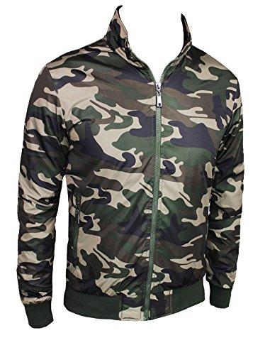 a3fb46ca34 Giubbotto uomo camouflage verde militare mimetico estivo slim fit ...