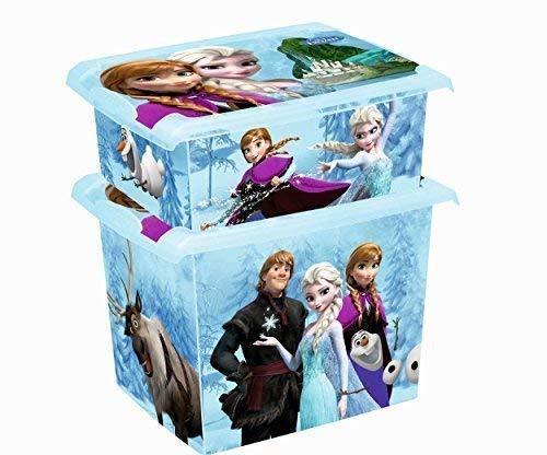 2er Set Fashion Box Disney Frozen 20L + 10L Aufbewahrungsbox Spielzeugkiste
