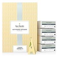 Tea Forte BULK PACK Lemon Sorbetti Green Tea, 48 Handcrafted Pyramid Tea Infusers