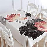 OVVO Kreative Tischdecke Home Wohnzimmer Landschaftsmalerei Baumwolle und Leinen Gab Tischdecke Tee Tischdecke Restaurant Esstisch Tischdecke Tischdecke zum Essen (Farbe : Green, Größe : 45 * 75cm)