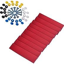 10 Piezas de Cinta Adhesiva de Doble Cara con 16 Sets de Tornillos y Tapas para Placa de Número Placa de Licencia de Coche Kit de Montaje Reparación