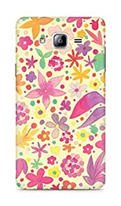Amez designer printed 3d premium high quality back case cover for Samsung Galaxy ON7 (Cute paper vintage floral)
