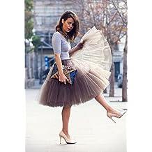 Babyonlinedress Falda corta mini tutú de varios colores y capas con cintura elástica