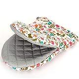 gloveszhu Mikrowellenhandschuhe Isolierten Handschuhe Verdickte Anti-Hot-Handschuhe Küche Backen Hochtemperatur-Ofenhandschuhe