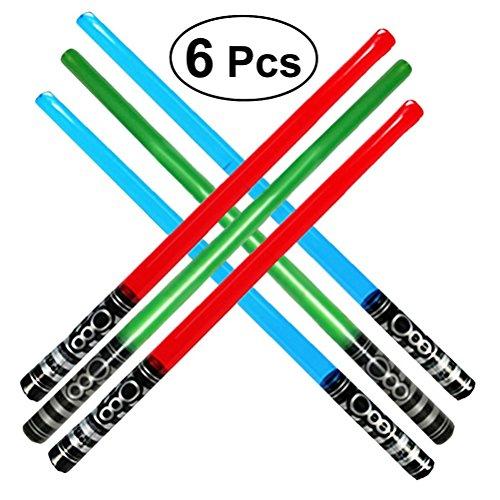 aufblasbare Schwerter   Light Sabre Spielzeug für Kinder, 6er Pack ()