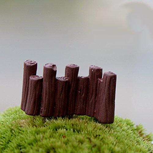 10pz Piccolo Paesaggio Recinzione Barriera Ferroviario Micro Paesaggio Arredamento Da Giardino Mestiere