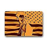 """'Dalliy la bandiera americana la statua della Libertà Fu?Tappetini Doormat Outdoor Indoor 23.6"""" x15.7about 59.9cmx39.8cm, tessuto, a, 23.6"""" x 15.7"""""""