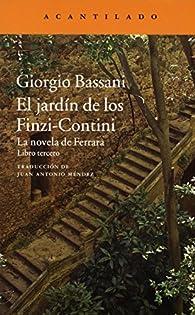 El jardín de los Finzi-Contini par Giorgio Bassani