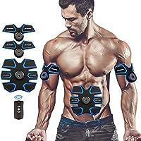 muscular abdominal toner, abdominal tonificación cinturones EMS ABS entrenador cuerpo fitness entrenador gimnasio entrenamiento y aparatos de fitness para el hogar para hombres y mujeres recargables con USB