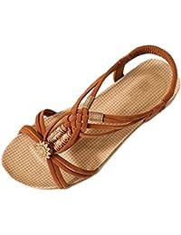 Styledress Damen Sandalen, Männer Plattform Sommer Sandalen Damen Zehentrenner Peep Toe Strand Flache Sandalen mit Keilabsatz Flip Flops Schuhe (EU=37, Gelb)