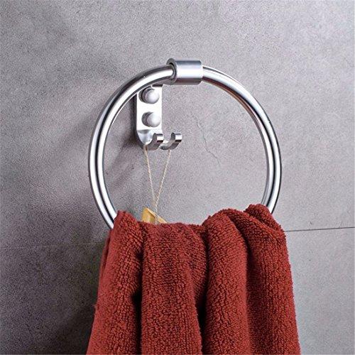 Die zeitgenössische europäische alu light Badezimmer Accessoires von Einzel- und Doppelzimmer cup Haken gesetzt, Handtuch Ring Handtuch Haken Gesetzt