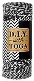 D.I.Y with Toga RUY007 Bobine Ficelle pâtissier Noir 1000 x 0,1 x 0,1 cm