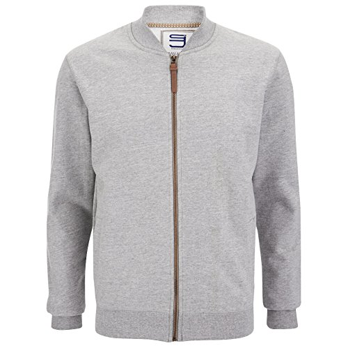Sweat Zip Hommes Smith & Jones Tru Track Top Brewer 'Pull Gilet Brewer (Mid Grey Marl)