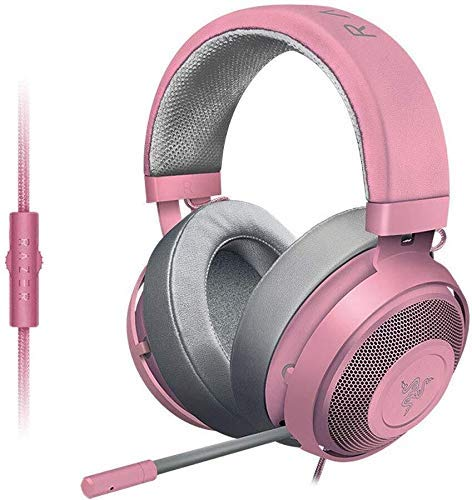 Zixin Headset Kristall Computer for Handy-Spiele oder Video Playbackheadset-Weiß, Farbe: Rosa (Farbe: Grün) (Color : Pink)