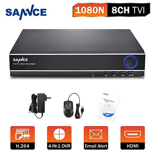 SANNCE 4CH 1080N DVR HDMI H.264CCTV Digital Video Recorder Digital Video Recorder Sicherheitssystem Bewegungserkennung souveiller von Computer oder Smartphone -