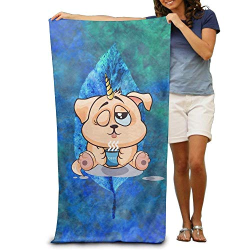 quanzhouxuhuixiefu Dog Unicorn Drink Coffee Bath Towels Soft Machine Washable Easy Care Pool Towel Fast Drying Travel Multipurpose Use Spa Quality Lightweight Towel (Soft Drink Machine)