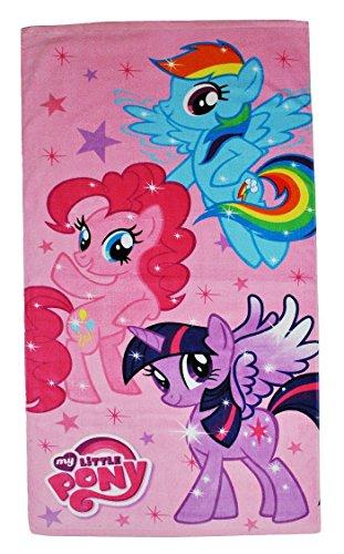 Badetuch My Little Pony 70 cm * 140 cm / Handtuch groß Strandtuch Baumwolle - Mädchen mein kleines Pony Pferd 70x140 für Kinder Badehandtuch Tiere