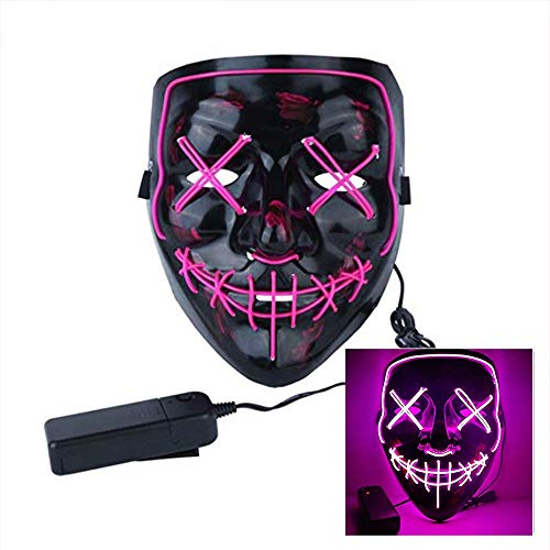 LanXi Halloween Kostüm Maske leuchtenden Schädel voller Gesichtsmaske -