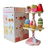 Holz Erdbeere Eisstand, neue Holz Kinder Spielzeug Spiel Haus Erdbeere Eis Stand Geschenke 1 Satz OHlive