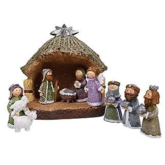 khevga belén de Navidad Completo – Juego de Figuras de belén
