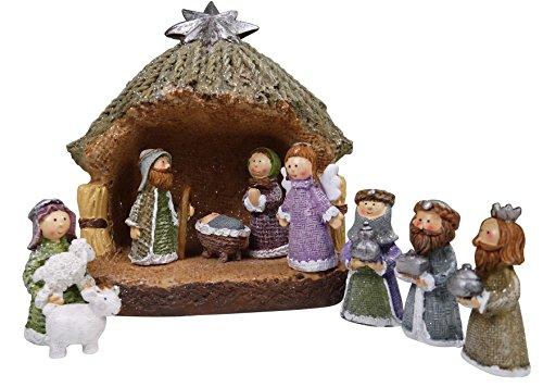 khevga belén de Navidad Completo - Juego de Figuras de belén