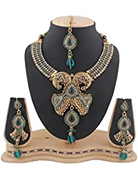 Variation Exclusive Antique Designer Traditional Gold Plated Kundan Jewellery Set Necklace-VD10324