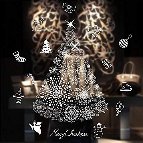 Wandaufkleber Wand-Aufkleber Fototapete Wandtattoo WanddekorationFenstersticker süsser weisser Weihnachts Hirsch Home Shop Dekoration 50x70cm - Weihnachtsbaum