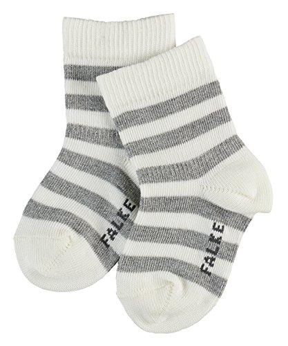 FALKE Unisex Baby Spark Stripe Socken, white, 62-68