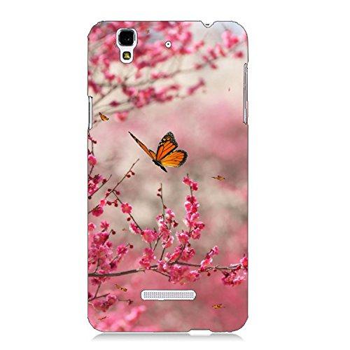 Clapcart Butterfly Design Printed Mobile Back Cover For Micromax YU Yureka / Yu Yureka Plus -Multicolor