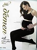 Gaine collant noir extensible femme enceinte contention confort et maternité taille unique 40den...