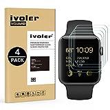 iVoler [Lot de 4] Verre Trempé pour Apple Watch 42mm Series 3/2 / 1, Film Protection en Verre trempé écran Protecteur pour Apple Watch 42mm Series 1 2015 / Series 2 2016 / Series 3 2017