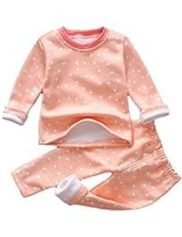 1-4 ans Enfant Mixte Velours Ensemble de Pyjama Vetement Hiver