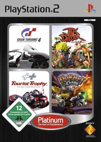 PS2 Quattro Platinum Pack (Gran Turismo 4 + Jak and Daxter + Tourist Trophy + Ratchet & Clank 3)