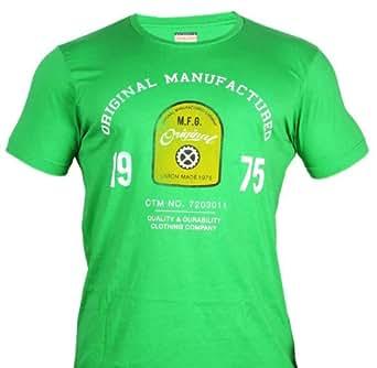 Jack & Jones Kurzarm KULT T-SHIRT - Grün - mit stylischem Print - aus 100 % Baumwolle - 2 verschiedene Designs (JJ-24/30) (S, Grün (JJ-24))