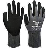 Guantes de trabajo general Evilandat WG 500 de nylon con revestimiento de nitrilo en las palmas, certificado EN388, nailon, Gris, Medium