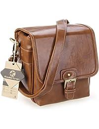 Koolertron - sac bandoulière sacoche étanche en PU cuir pour DSLR caméra appareil photo avec 1 objectif - pour Canon Sony Nikon Canon Olympus etc.
