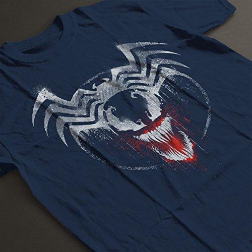 Marvel Venom Graffiti Women's T-Shirt Navy blue