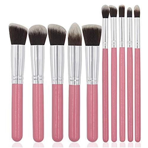Lychee 10 pcs souple de maquillage professionnel pinceaux de maquillage brosse cosmétiques Fashion Foundation Powder (Rose)