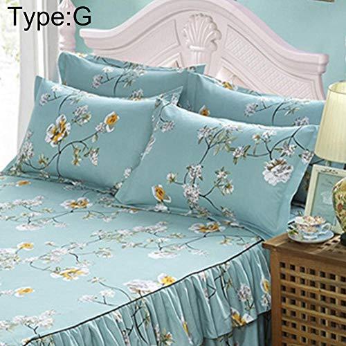TRULIL Cache-Sommier Nouvelle Couverture de lit de ponçage lit Jupe épaississement Peau Coton Couverture de lit Simple Double Coton Doux Jupe lit