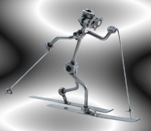 """Boystoys HK Design - Schraubenmännchen Ski Nordisch Langlauf """"Langläufer"""" - Metall Art Geschenkideen Deko Skulptur Sport & Freizeit - hochwertige Original Figuren handgefertigt"""