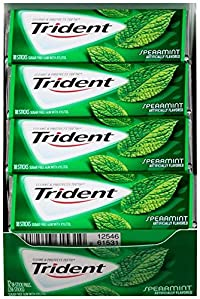 Trident Sugar Free Gum Speamint Flavour, 18 Sticks (Pack Of 12, Value For Money)
