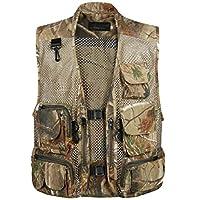 Mens Outdoor Sleeveless Work Safari Fishing Travel Photo Vest with Pockets 2 XL