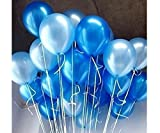 #10: AMFIN® 10 Inch (Pack of 50) Metallic Balloons Light Blue & Blue for Birthday Decoration, Decoration for Weddings, Engagement, Baby Shower, 1st Birthday, Anniversary Party, Theme Party, Office Party