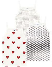 Petit Bateau, Camiseta de Tirantes para Niñas (Pack de 3)