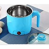 GNEY Electric Multifunction Cooking Pot 1.5 Litre Multi-Purpose Cooker Mini Electric Cooker Steamer Cook Pots for Cook Noodles/Hot Pot/Rice Porridge for Home, Office and Travel (Random Color)
