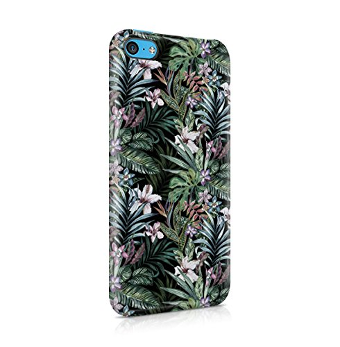 Tropical Floral Flowers Aloha Hawaii Exotic Jungle Pattern Print Apple iPhone 5C Snap-On Hard Plastic Protective Shell Case Cover Custodia Exotic Jungle