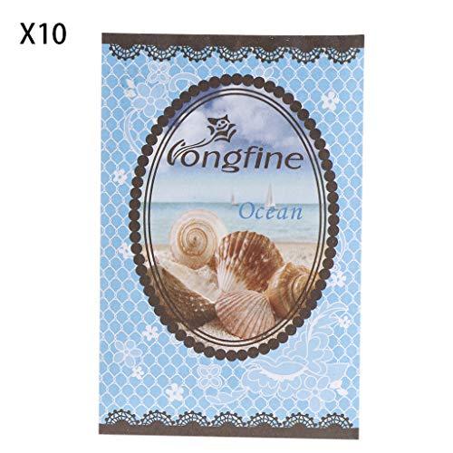 A0127 Sachet de Parfum Fleur de Lavande Assainisseur d'air Huile d'épice Naturelle Sac de Parfum Déodorant 10 Sacs (océan)