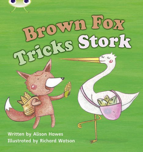 Brown Fox Tricks Stork