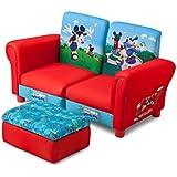 Mickey Mouse de 3piezas para niños sofá (Rojo/Azul)