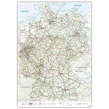 Lysco Deutschlandkarte Din A2 Format Gefaltet Auf Din A4 K 711